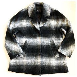 Sam Edelman Plaid Mohair Coat